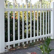 Azembla 4 Ft X 6 Ft White Vinyl 1 5 In Unassembled Picket Fence Panel 1728200ua7 The Home Depot In 2020 Garden Fence Panels Vinyl Fence Vinyl Fence Panels