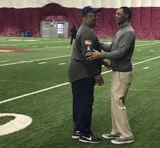 """Jim Wyatt on Twitter: """".@MarcusAllenHOF is watching @Titans practice today  @ASU. OC Terry Robiskie coached Allen during his rookie year with Raiders  in 1982.… https://t.co/OxceIqp1EE"""""""