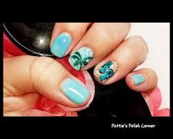 glittery flip flops nail art 1