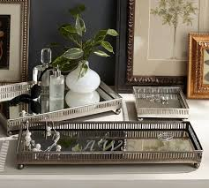 mirrored dresser top trays pottery barn