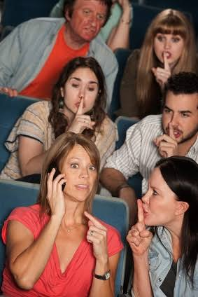 Image result for talking loudly on cell phone in public""