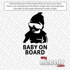 Car Decals Car Stickers Carlos Baby On Board Hang Over Car Decal Anydecals Com