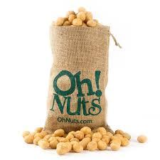 macadamia nuts burlap sack gift nut