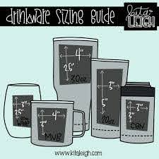 Stemless Wine Glass Decal Size Chart Pflag