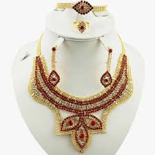 gold plating jewelry sets african big