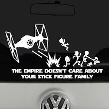 The Empire Doesn T Care About Your Stick Figure Family Decal