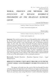 PDF) MORAL, POLITICS AND METHOD: THE INFLUENCE OF RONALD DWORKIN´S  PHILOSOPHY ON THE BRAZILIAN SUPREME COURT