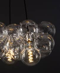 bubble glass chandelier ceiling light
