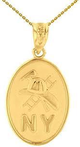14k gold new york firefighter axe