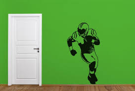 Life Size Football Player Wall Decal Football Wall Sticker Etsy