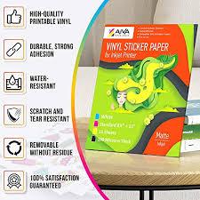 Waterproof Decal Paper For Inkjet Printer Printable Vinyl Sticker Paper Standard Letter Size 8 5x11 Glossy