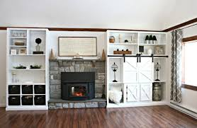 diy farmhouse fireplace builtins mama