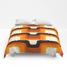 mid century modern meets 1970s orange