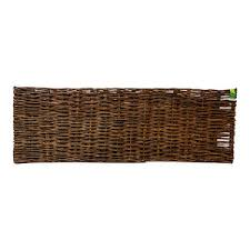 Braided Willow Fence Panel 72 Wx72 H Set Of 2 Pieces Rustic Home Fencing And Gates By Master Garden Products