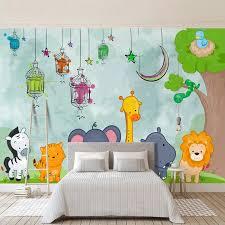 Mega Discount 4659 Custom 3d Mural Wallpaper For Kids Room Hand Painted Cartoon Animal Giraffe Lion Elephant Kindergarten Bedroom Art Wall Painting Cicig Co