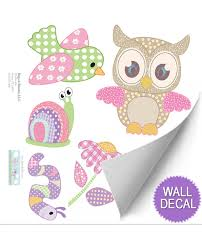 Owl Decals Nursery Decor Wall Mural Removable Vinyl Stickers Wall Art Decor Bugs N Blooms
