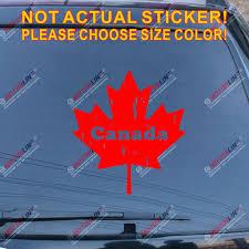 Distressed Canada Maple Leaf Car Decal Sticker Canadian Flag