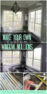 make your own window mullions window