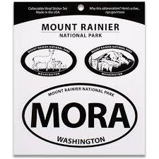 Mount Rainier Np Triple Decal Shop Americas National Parks