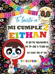 Invitaciones Digitales Coco Pelicula Disney 200 00 En Mercado