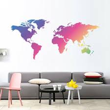 World Map Wall Decal Removable Sticker Mural Kids Boys Room Office Home Decor Ebay