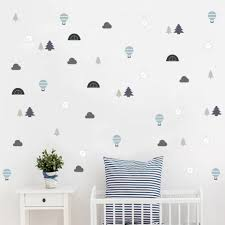 Small Wild Explore Compass Wall Decal Tent Trees Cloud Stickers For Kid Nursery Children Room Diy Art Nordic Vinyls Home Decor Wall Stickers Aliexpress