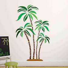 Green And Brown Palm Trees Wall Stickers Style And Apply