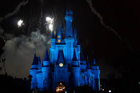 disney castle fireworks night wallpaper