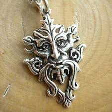 sterling silver greenman necklace