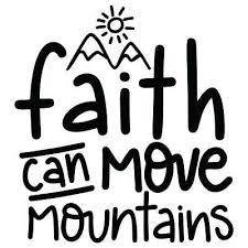 Faith Can Move Mountains Vinyl Wall Graphic Decal Sticker
