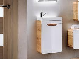 wall vanity cabinet ceramic sink