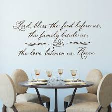 Kitchen Quote Wall Decals Lord Bless The Food Before Us Christian Wall Sticker Prayer Dining Room Decor Vinyl Wallpaper X590 Wall Stickers Aliexpress