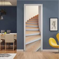 Pvc Rotating Wood Stairs Door Sticker Art Wall Decals Mural 3d Home Room Decor Ebay
