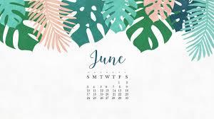 free june 2018 hd calendar wallpaper