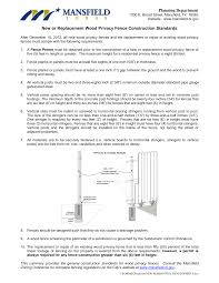 Https Www Mansfieldtexas Gov Documentcenter View 603 Planning Wood Privacy Fence Guidelines Pdf