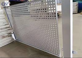 Pvc Coated Round Steel Punching Hole Mesh Used For Fence Perforated Metal Screen