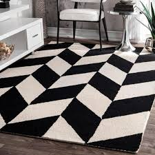 nuloom katte geometric black white 4