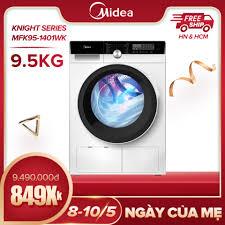 Máy Giặt Cửa Trước Midea MFK95-1401 9.5kg (Trắng/Xám Bạc) - Dòng cao cấp -  Tính