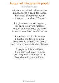 45 Poesie per la Festa del Papà per Bambini