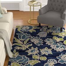 charlton home hudson navy blue area rug