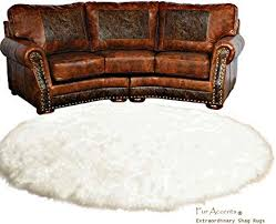 round rug white carpet