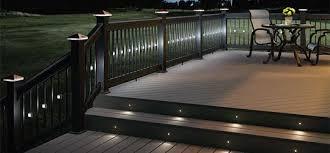 Low Voltage Deck Lights Fence Post Caps Decks Backyard Deck Lighting Deck Designs Backyard