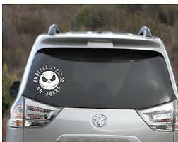 Baby Skellington On Board Car Decal Baby Safety Decal Nightmare Before Christmas Themed Baby Car Decal Car Safety Sold By Untamed Gifts On Storenvy