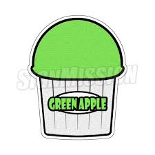 Green Apple Flavor Italian Ice Decal Shaved Ice Cart Trailer Stand Sticker Walmart Com Walmart Com