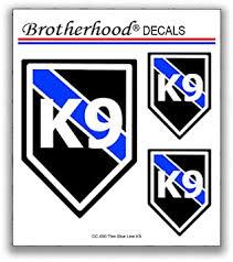 Amazon Com Brotherhood K9 Decal K9 Sticker Caution K9 Stickers For Police Car 6 K9 Stickers Automotive