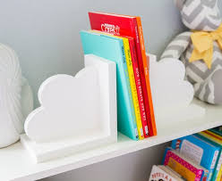 Cloud Bookends For Kids Room Baby Nursery Decor Bedroom Book Etsy