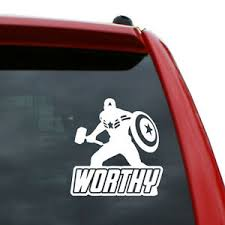 Captain America Worthy Vinyl Decal Sticker Color White 5 Inch Tall Ebay