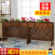 Outdoor Solid Wood Fence Flower Stand Flower Pot Hotel Restaurant Anticorrosive Wood Indoor Partition Grid Flower Trough Wooden Fence Flower Box Buyinchinese Com Buy China Shop At Wholesale Price By Online