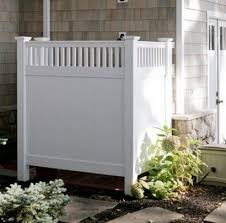 15 Best Looking Ways To Hide Trash Cans Diy Alternative Energy Outdoor Shower Inspiration Outdoor Shower House Exterior