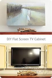 diy flat screen behind two